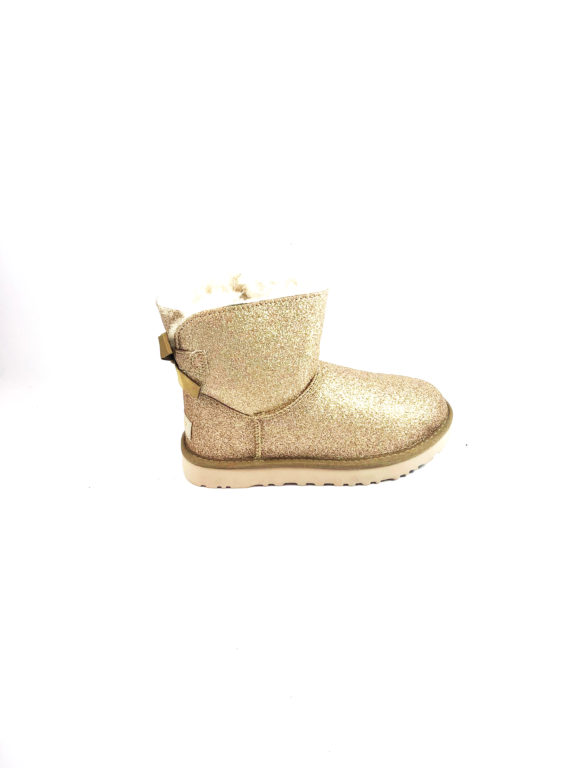 UGG STIVALETTO DONNA – W MINI BAILEY – BOW SPARKLE GOLD